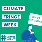 Climate Fringe Week launch design by Iga Gumulinska